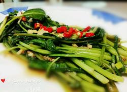 虾酱蚝油炒空心菜 虾酱炒通菜