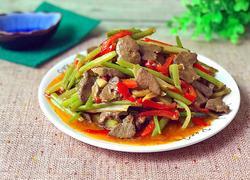 猪肝炒芹菜