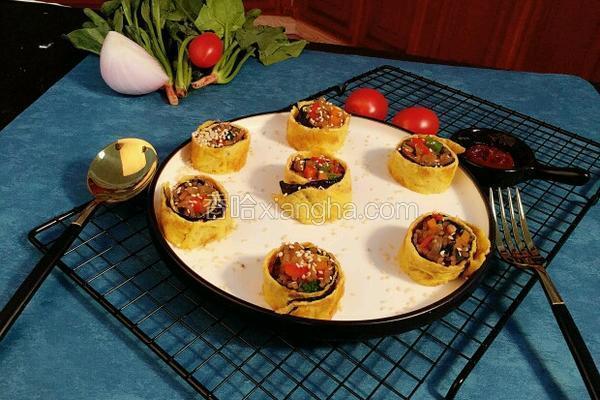 韩式粉丝鸡蛋卷