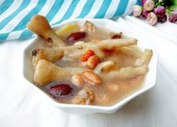 红枣花生鸡爪汤