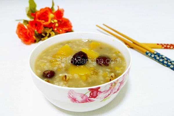 绿豆红枣南瓜粥