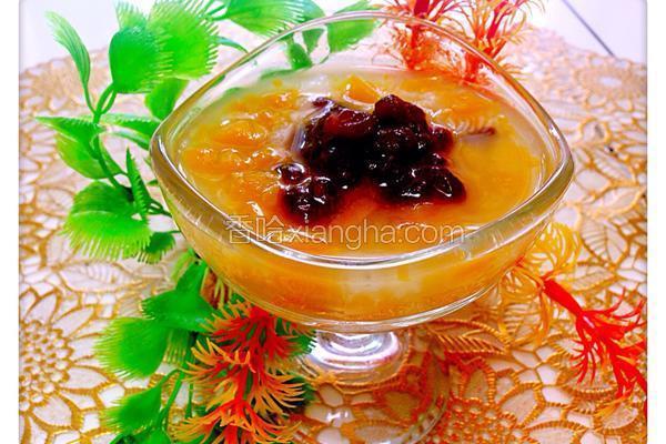 南瓜红豆冰粥