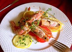 百里香海盐烤虾