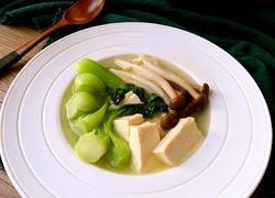 青岛#油菜菌菇豆腐汤#年夜饭#