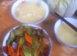 腊肠炒蔬菜