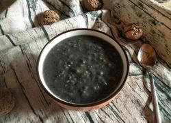 黑芝麻核桃粥