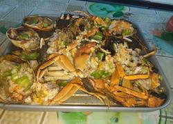 蒜蓉青椒烤毛蟹