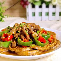 双椒素鸡炒牛肉