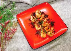 茶香干煸虾