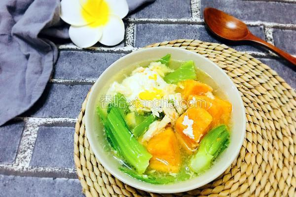 番薯鸡丝芥菜汤