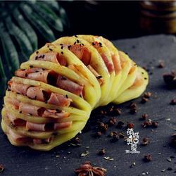 风琴土豆:好吃易做的新手装逼级小吃的做法[图]