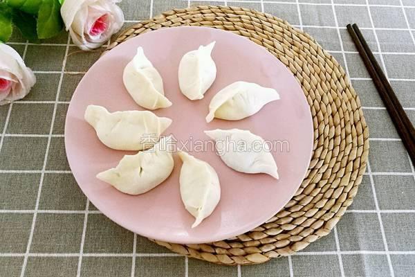 西葫芦木耳馅饺子