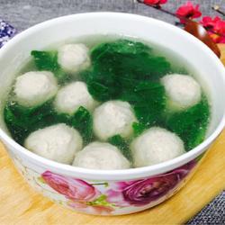 小白菜贡丸汤