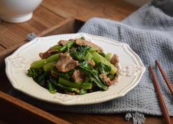 沙茶牛肉炒芥兰