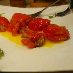 柠檬红椒肉卷沙拉