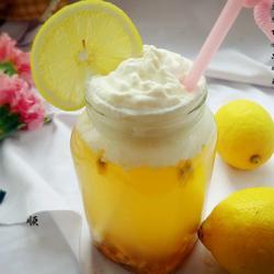 乌龙茶百香果奶盖