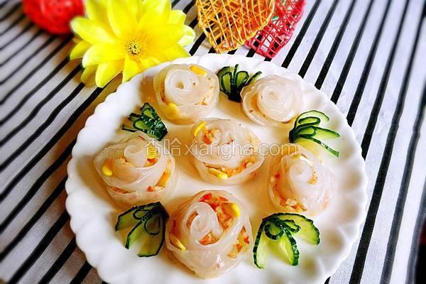 玫瑰鲜虾饺
