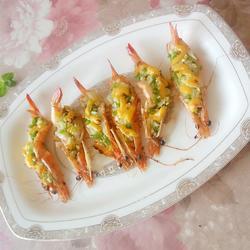 焗芝士大海虾