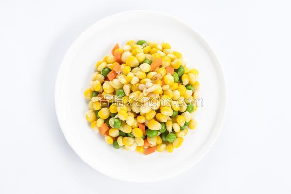 玉米甜豌豆炒松子仁