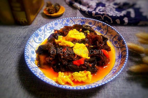 西红柿炒鸡蛋黑木耳