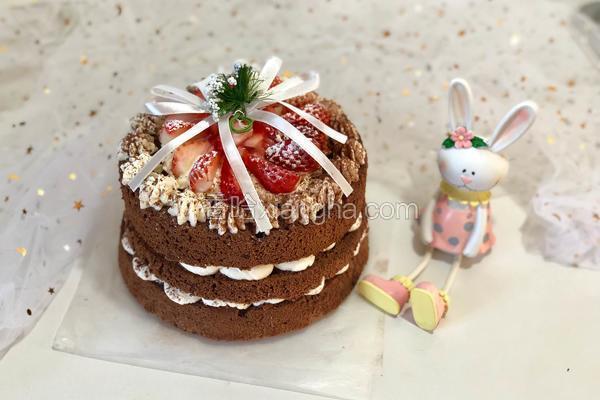 草莓可可裸蛋糕