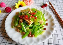 芹菜花生拌腐竹