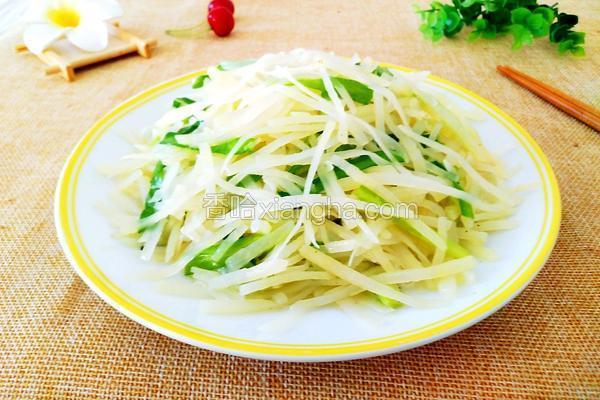 土豆丝炒韭菜