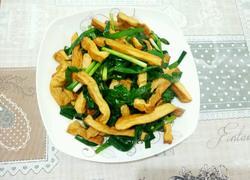 豆腐干炒韭菜