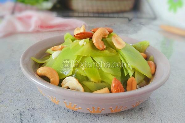 凉拌莴苣坚果