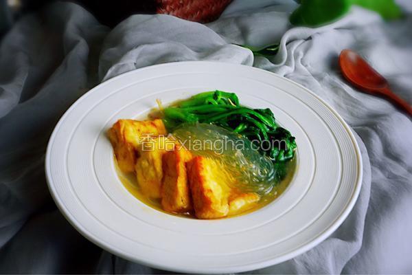 菠菜豆腐粉絲湯