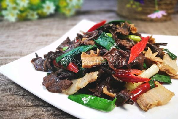 牛肝菌炒土猪肉
