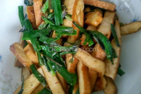 韭菜耗油炒豆腐干