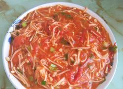 西红柿炒金针菇(下饭必备)