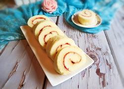 草莓酱蛋糕卷