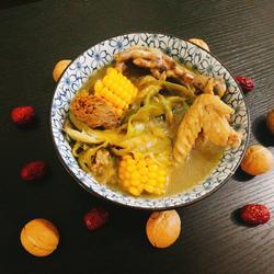 霸王花海皇三宝玉米子鸡汤