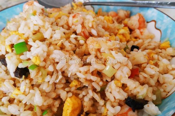 海参虾仁蛋炒饭