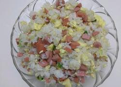 鸡蛋香肠蛋炒饭