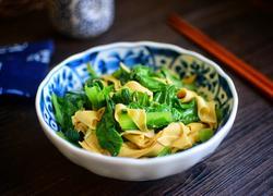 小白菜炒干豆腐