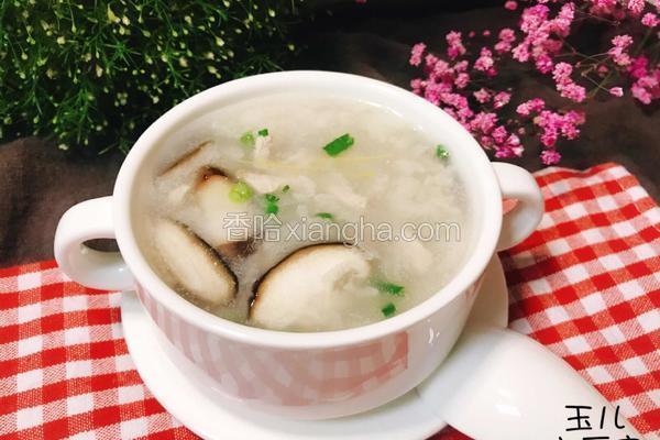 粤式-香菇瘦肉粥