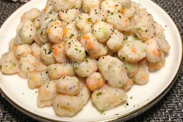 健康蔬菜小虾丸