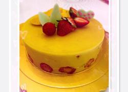 芒果草莓慕斯蛋糕