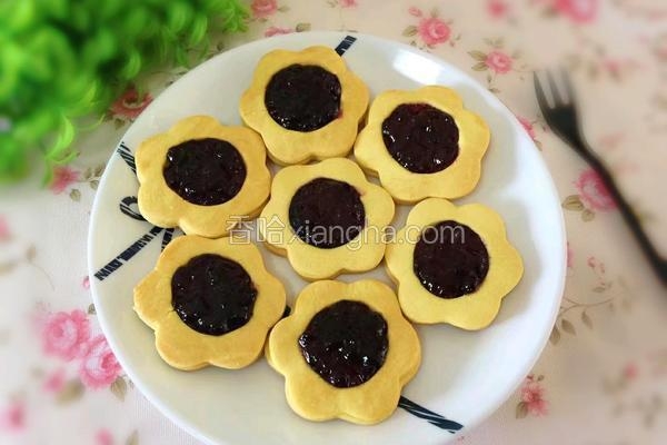蓝莓果酱饼干