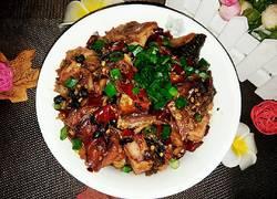 豆豉辣椒蒸腊鱼