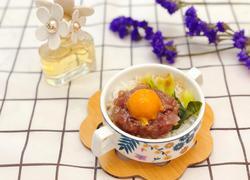 #蒸菜#蛋黄腊肉饼蒸饭