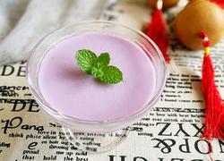 紫薯牛奶凉糕