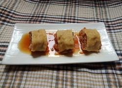 #蒸菜#豆腐皮肉卷