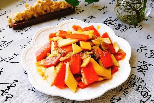 杏鲍菇炒胡萝卜