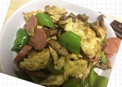 尖椒火腿鸡蛋炒肉