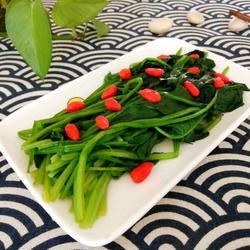 枸杞菠菜的做法[图]