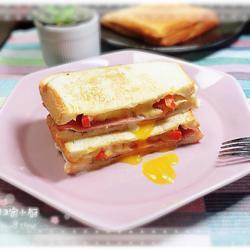 封边火腿蛋三明治(快手餐)